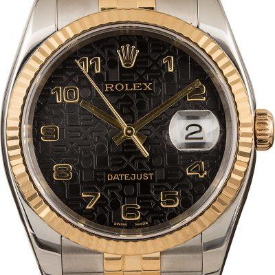 Rolex Datejust 116233 Replica Men's Dial Black Jubilee Stainless Steel