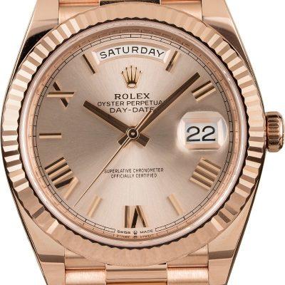Rolex President 228235 Men's Replica Dial Sunset Automatic 3255 Watch