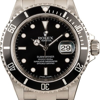 Rolex Submariner 16610 Replica Men's Case 40mm Stainless Steel