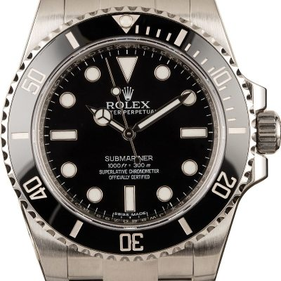 Rolex Submariner 114060 Men's Fake Dial Black Stainless Steel Watch