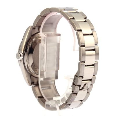 Rolex Day-date Fake Men's 18k White Gold Case 36mm Dial White Roman