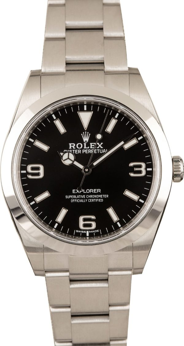"Rolex Explorer Dial New Style ""Mark Ii"" Black Dial Fake Men's Automatic 3132"