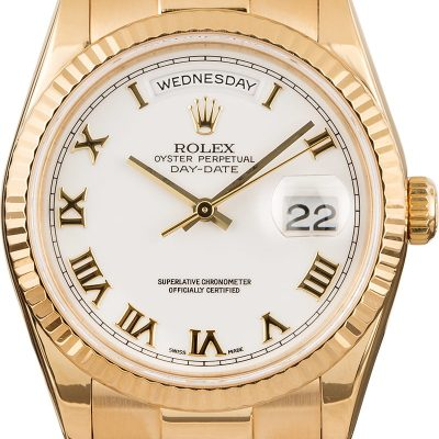 Rolex Day-date 118238 Men's Case 36mm 18k Yellow Gold