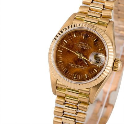 Rolex President Model 69178 Ladies Case 26mm 18k Yellow Gold