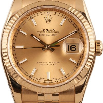 Rolex Datejust 116238 Men's Dial Champagne Automatic 3135