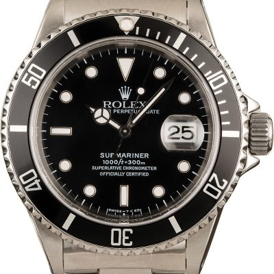 Rolex Submariner 16610 Men's Dial Black Automatic 3135
