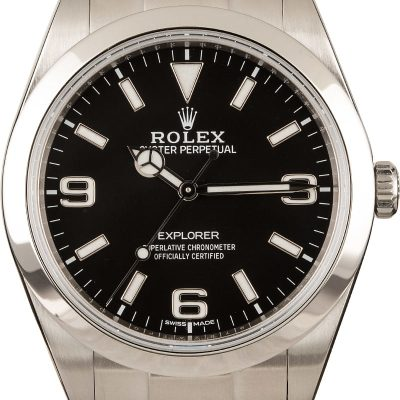 Rolex Explorer 214270 Men's Case 39mm Stainless Steel