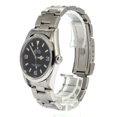 Rolex Explorer 14270 Men's Dial Black Stainless Steel Oyster