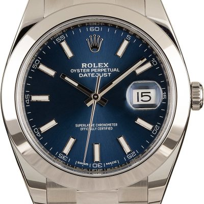 Rolex Datejust 41 126300 Men's Dial Blue Automatic 3235