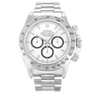 Rolex Daytona 16520 Mens White Baton Automatic 40 MM Steel Watch