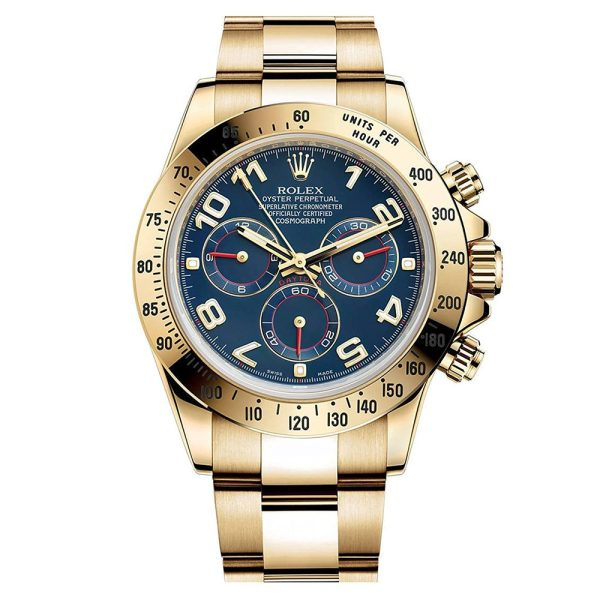 Rolex Daytona 116528 Blue Arabic Automatic 40 MM Mens Steel Watch