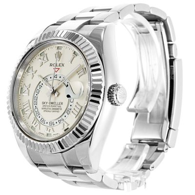 Rolex Sky-Dweller 326939 Mens 42 MM Automatic Silver Steel Watch