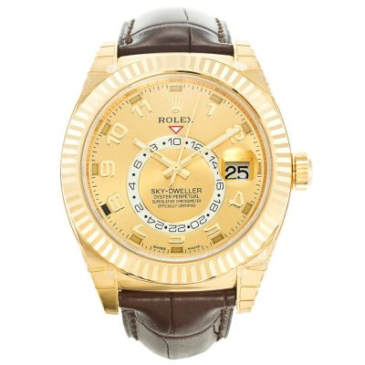 Rolex Sky-Dweller 326138 Gold 42 MM Automatic Mens Stainless Steel Watch