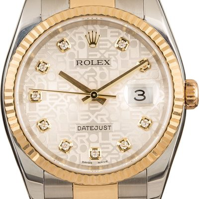 Rolex Datejust 116233 Men's Case 36mm 18k Yellow Gold