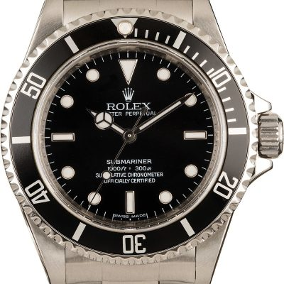Rolex Submariner 14060 Men's Dial Silver Automatic 3135