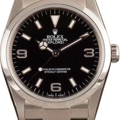 Rolex Explorer 114270 Men's Dial Black Stainless Steel