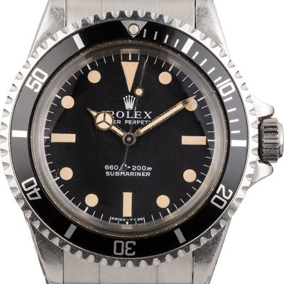 Rolex Submariner 5513 Men's Dial Black Stainless Steel
