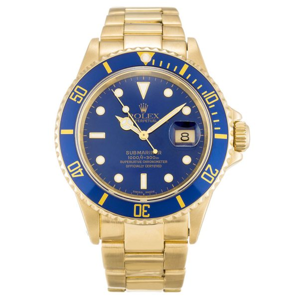 Rolex Submariner 16618 Mens Blue Automatic 40 MM Steel Watch