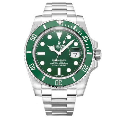 Rolex Submariner 116610 LV Mens Green Automatic Steel 40 MM Watch