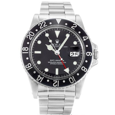 Rolex GMT Master 16750 Black Steel Automatic 40 MM Mens Watch