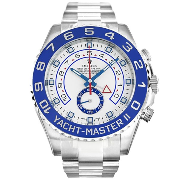 Rolex Yacht-Master 116680 Mens Automatic 44 MM White Steel Watch