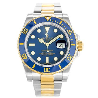 Rolex Submariner 116613LB Mens 40 MM Automatic Blue Steel Watch