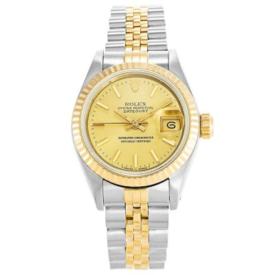 Rolex Datejust 69173 Ladies Gold Automatic 26 MM Gold Plated Watch