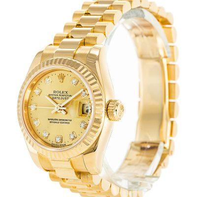 Rolex Datejust 179178 Ladies 26 MM Steel Automatic Gold Watch