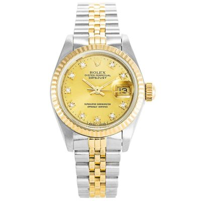 Rolex Datejust 69173 Gold Stainless Steel Automatic 26 MM Ladies Watch69173 Gold Stainless Steel Automatic 26 MM Ladies Watch