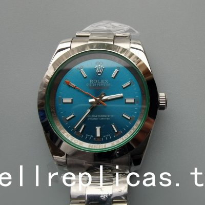Rolex Milgauss 116400v Unisex Dial Blue Stainless Steel Watch