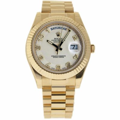 Rolex Day-date Ii 218238 Men's Case 41 Mm 18k Yellow Gold