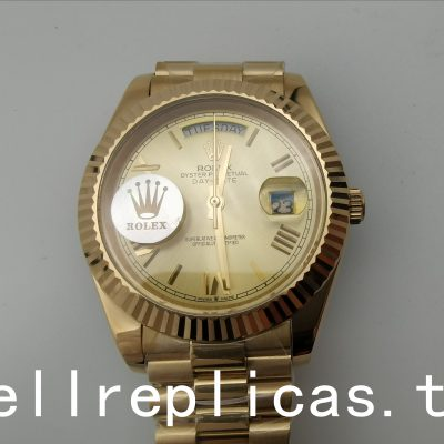 Rolex Day-date 228238 Men Dial Champagne Yellow Gold