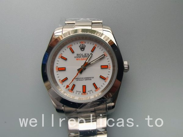 Rolex Milgauss 116400 men Dial White Stainless Steel