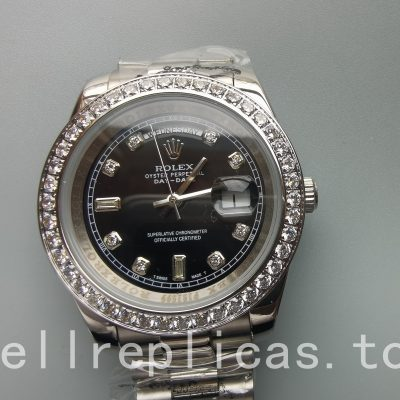 Rolex Daydate 228349RBR Men's Dial Black Case 40mm Automatic