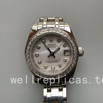 Rolex Pearlmaster 80299 Ladies Case 29mm White Gold 18k