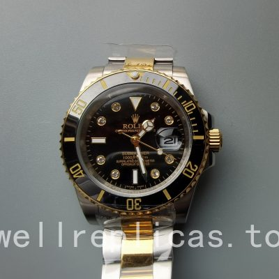 Rolex Submariner 116613ln-0003 Men Dial Black 18k Yellow Gold
