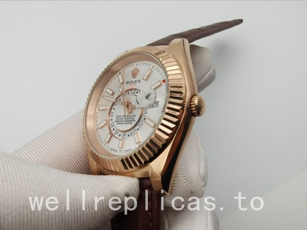 Rolex Sky-dweller 326135 Men Dial 42 Mm Everose Gold
