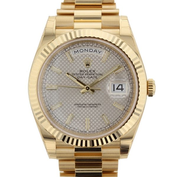 Rolex Day Date 228238 Case 40 Mm Sapphire Yellow Gold