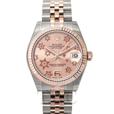 Rolex Datejust 178271 Ladies Case 31 Mm Everose Rolesor