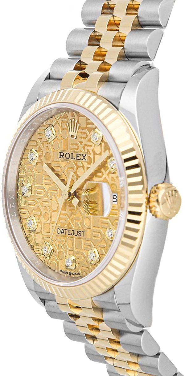 Rolex Datejust 126233 Steel Beige Dial Men's 36mm Automatic Watch