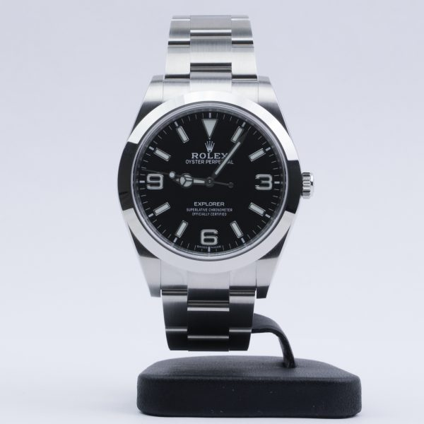 Rolex Explorer 214270 Men's 39mm Steel Black Dial Automatic Watch