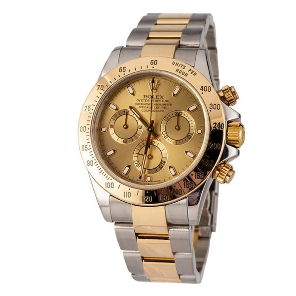 Rolex Daytona 116523 Men's 40mm Steel Champagne Dial Automatic Watch