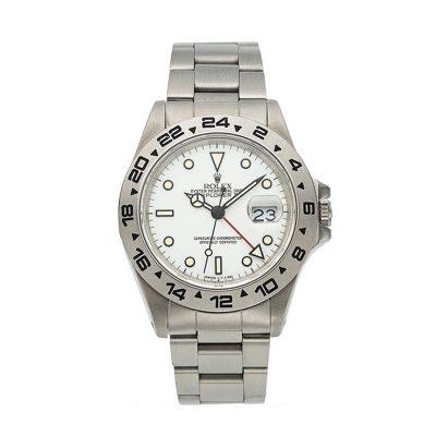 Rolex Explorer II - 16550 Men's 40mm White Dial Steel Automatic Watch