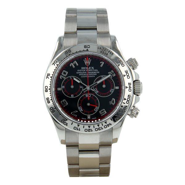 Rolex Daytona 116509 White Gold Steel 40mm Sapphire Automatic Watch