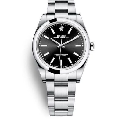 Rolex Oyster Perpetual 114300 Replica Lady 39mm Black Dial Watch