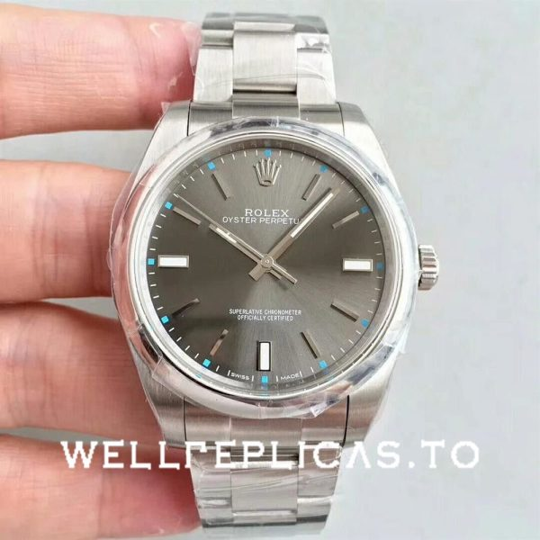 Rolex Oyster Perpetual 114300 Replica Gray Dial 39mm Ladys Watch