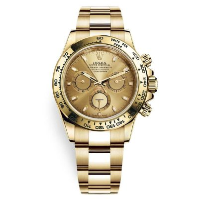 Rolex Daytona 116508 Full Gold Dial Men 40mm Golden Frame Watch
