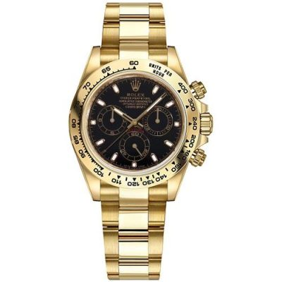 Rolex Daytona 116508 Replica Black Dial Men 40mm Golden Watch