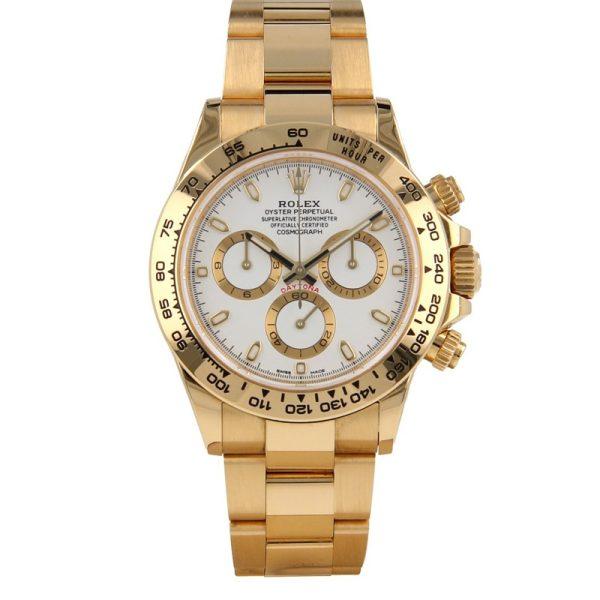 Rolex Daytona 116508 White Dial Unisex 40mm Golden Frame Watch