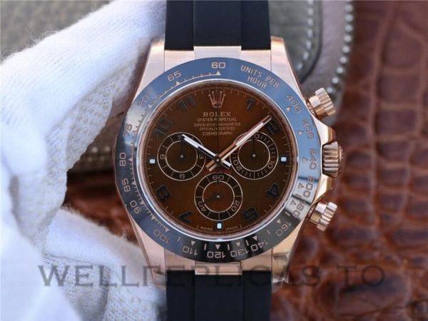 Rolex Daytona 116515LN Men 40mm Coffee Color Dial Black Rubber Watch